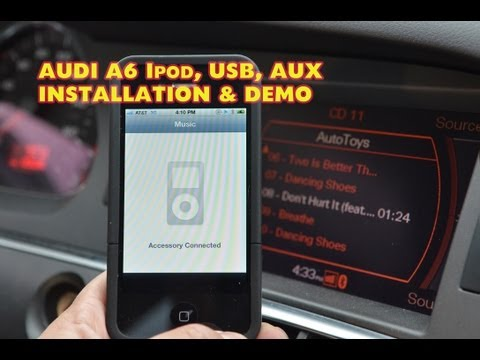 Audi A6 IPOD USB Mp3. Dension GW51MO2 DEMO & Install. ( GW52MO2 ) by Autotoys.com