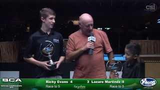 2015 Junior 9-Ball Challenge: Lazaro Martinez vs Ricky Evans (Final)