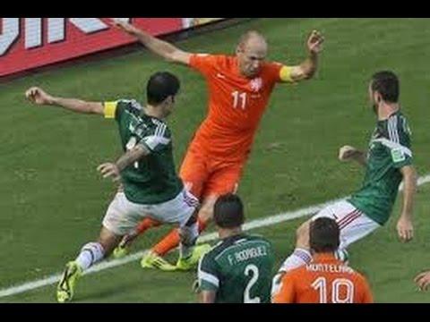 Holanda 2 vs Mexico 1 Cuartos De Final Copa Mundo 2014 #NO ERA PENAL