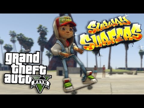 GTA 5 Mods - JAKE FROM SUBWAY SURFERS MOD - PART 2 (GTA 5 Mods Gameplay)