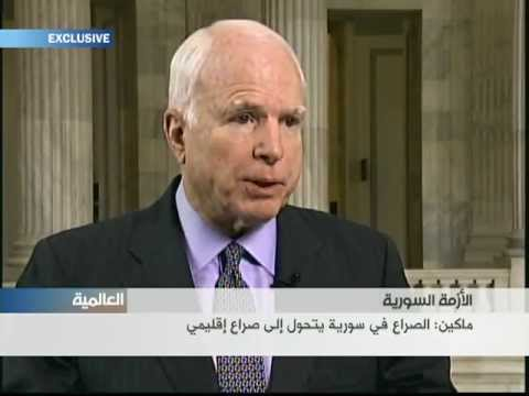 Senator John McCain discusses Syria with Alhurra TV.
