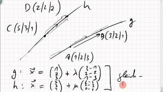 schnittpunkt zweier geraden