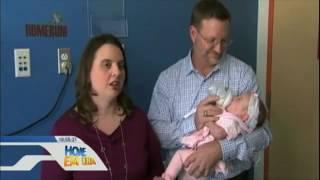 Bebê nasceu duas vezes