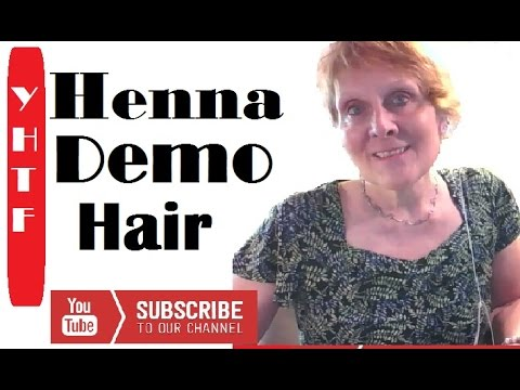 Using Henna to color your hair demonstration