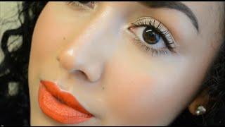 Fresh Summer Makeup Tutorial (Glowing skin/Simple eyes/Orange lips)