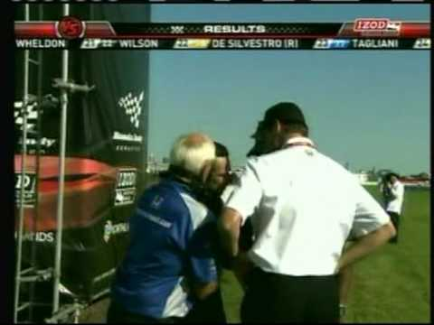 2010 Indycar Edmonton - Helio Castro Neves angry blowup/post-race interview Video