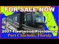 2007 Fleetwood Providence 39S Used Class A Diesel Motorhome, Florida, Ft Myers, Sarasota