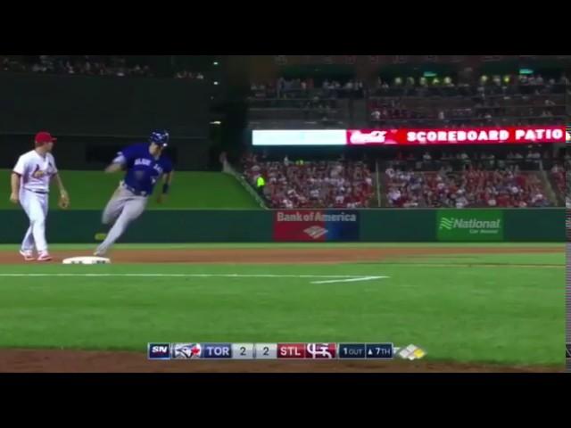 Chris Coghlan Superman Dive Over Yadier Molina