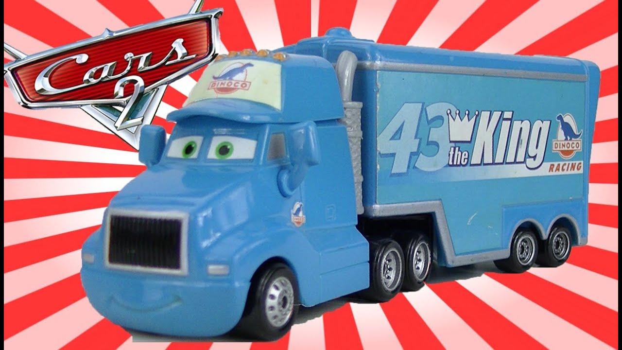 Mini Cup Race Car >> Disney CARS Toys King Toy Truck Hauler Mini Adventures #43 ...