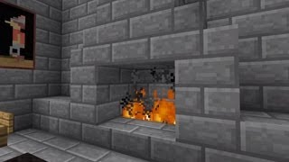 Minecraft Hidden Fireplace door! 100% confirmed to work on Xbox and PC