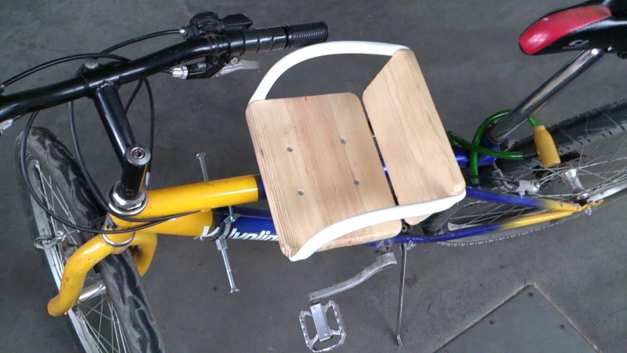 Как сделать на велосипед детское сидение на раму велосипеда