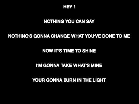BURN IN MY LIGHT WITH LYRICS (RANDY ORTON OLD THEME SONG)