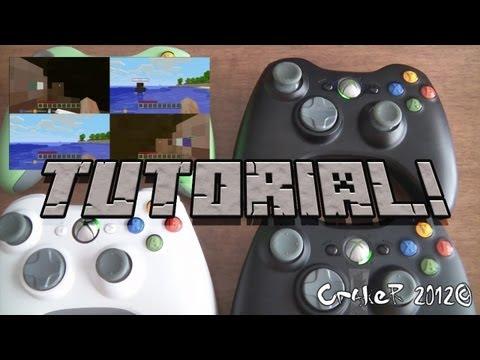 Tutorial Guia como jugar a pantalla partida en Minecraft Xbox 360 Edition