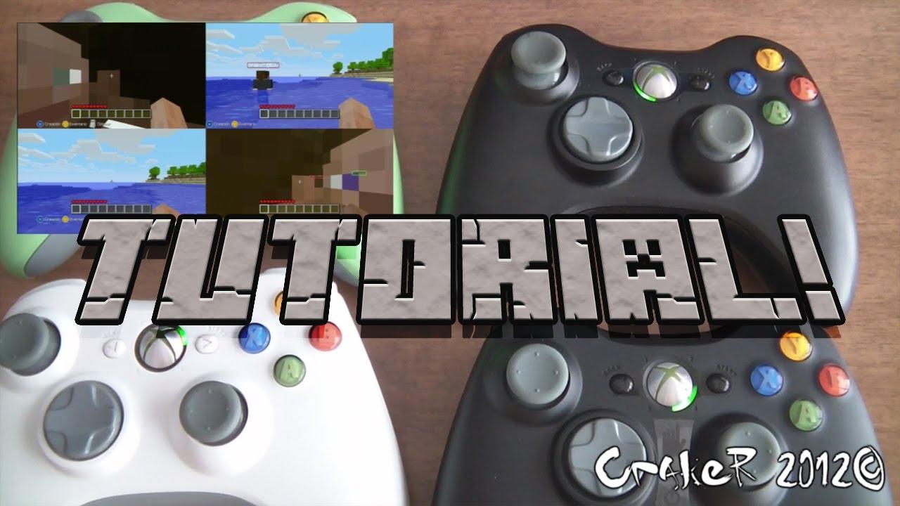 Tutorial guia como jugar a pantalla partida en minecraft for Sillas para jugar xbox