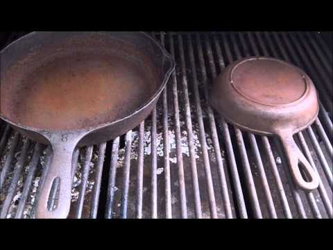 How To Strip & Re-Season Cast Iron Pans On The Grill