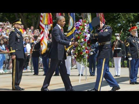 Obama preside acto de conmemoración de Memorial Day