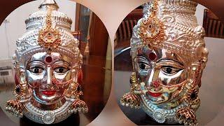 Varamahalakshmi Idol Decoration | Varamahalakshmi Face Decoration