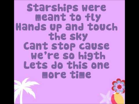 Starships By: Nikki Minaj Letra-lyrics video