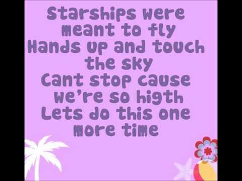 Starships By: Nikki Minaj Letra-lyrics video