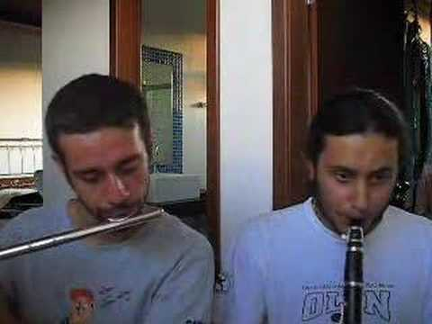 Mario Bros Theme - Flute & Clarinet Video