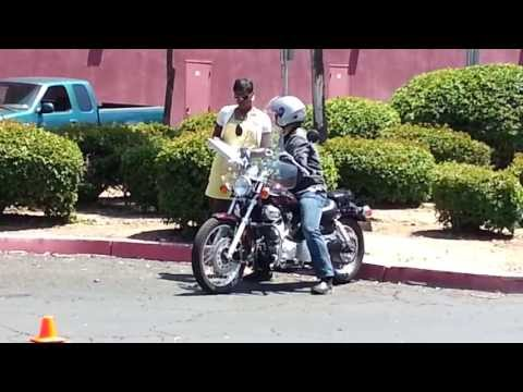 Actual California DMV Motorcycle Driving Test May 2013