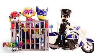 Paw Patrol Get the Pups Out of Jail with Fidget Spinner - Learn Colors Videos For Kids