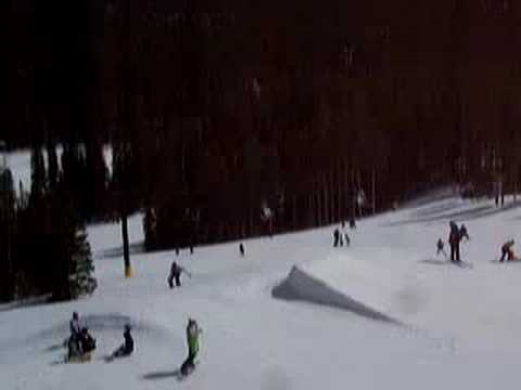 Snowboard Jump at Eldora Mountain Nederland Colorado Boulder