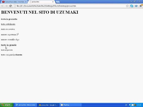 html lezione 5