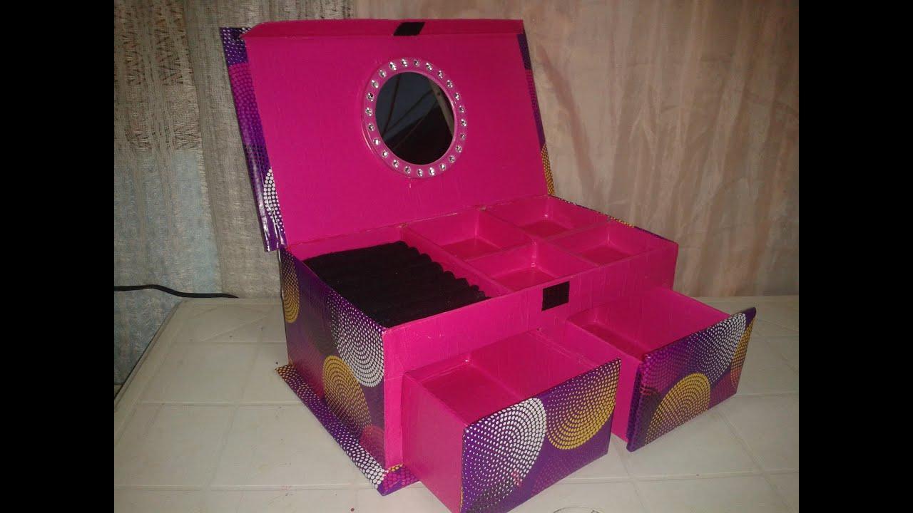 Alhajero hecho con caja de zapatos youtube - Como hacer una caja con carton ...