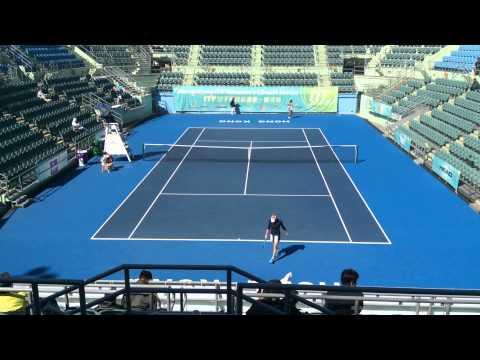 Vera Zvonareva vs Tian Ran in Hong Kong 10k part 2 29-12-2014