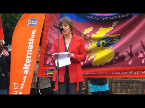 PCS strike rally with Mary Senior UCU lecturers union