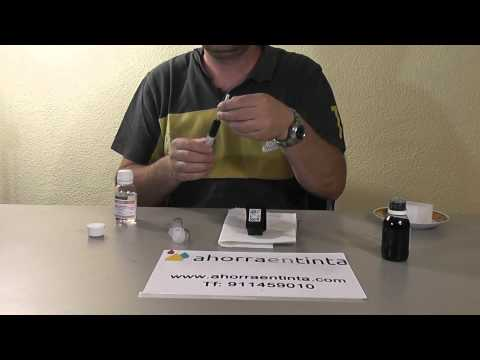 HP 300XL Negro -  HPCC641 Como recargar cartucho de tinta y limpieza de cabezal