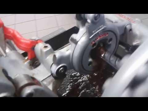 RIDGID 535 Diş Açma Makinesi ile Nervürlü Demire Diş Açma