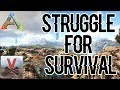 Struggling to survive | Ep 2 Small Tribes(Official PVP) - ARK: Survival Evolved