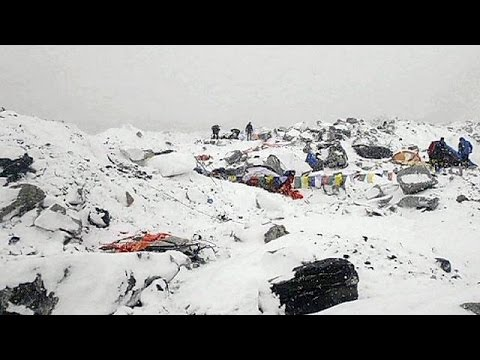 A group of injured sherpas has returned to Kathmandu, bearing the scars of earthquake-triggered avalanches around Mount Everest.  The men know the Himalayas better than anyone, yet their haunted and bruised faces bear witness to the horror of what they have experienced.  For anxious relatives waiting in Nepal\'s capital,  relief at their return is overwhelming.  \