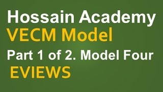 VECM. Model Four. Part 1 of 2. EVIEWS