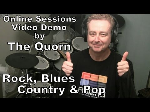 Online Session Drumming Video Demo: Rock,  Blues,  Country and Pop Rock.