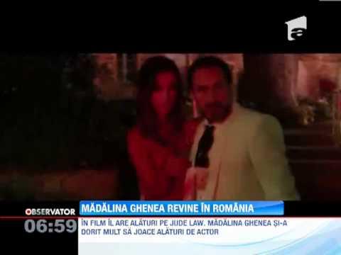 "Madalina Ghenea se intoarce in Romania sa isi promoveze noul film, ""Dom Hemingway"""