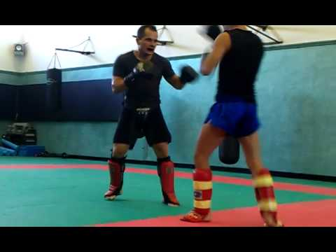 Kick Boxing Sparring Image 1