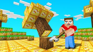 Minecraft BUT The Entire World Is LUCKY BLOCKS (unlucky)