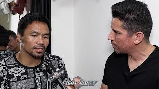 MANNY PACQUIAO ON THE DEATH OF PERNELL WHITAKER; SAYS MORE MOTIVATED FOR THURMAN THAN BRONER FIGHT