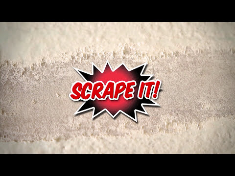 Diy painted popcorn ceiling removal youtube for How to remove popcorn ceiling without water