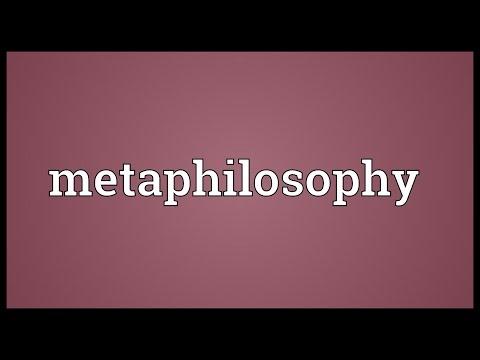 Header of Metaphilosophy