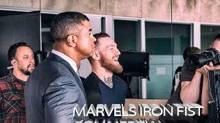 Conor McGregor on set for Marvel