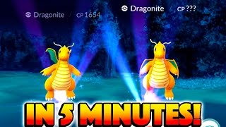 2 DRAGONITES IN 5 MINUTES CAUSE INSANE MOB! 2 Wild Aerodactyls & 2 Wild Dragonites in 1 Hour!