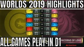 Worlds 2019 Play In Day 1 Highlights ALL GAMES Group A & B