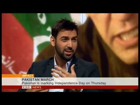 BBC World News Impact program - Imran Khan PTI Long March 14/08/14 - Mubashir Malik