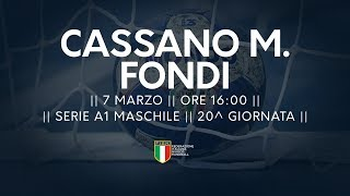 Serie A1M [20^]: Cassano Magnago - Fondi 23-22