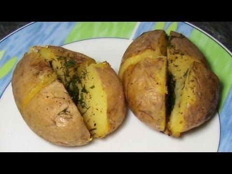 Картофель запченный в фольге в духовке, Folienkartoffeln