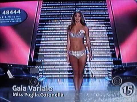 Gaia Variale,Miss Puglia Cotonella,Miss Peugeot,at Miss Italia 2009.Bikini Catwalks